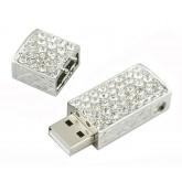 USB srebrne z cyrkoniami