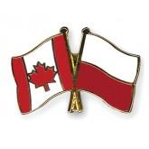 Metalowy znaczek flaga